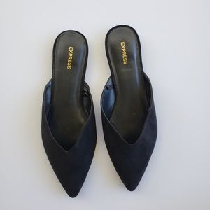 Express faux suede mules